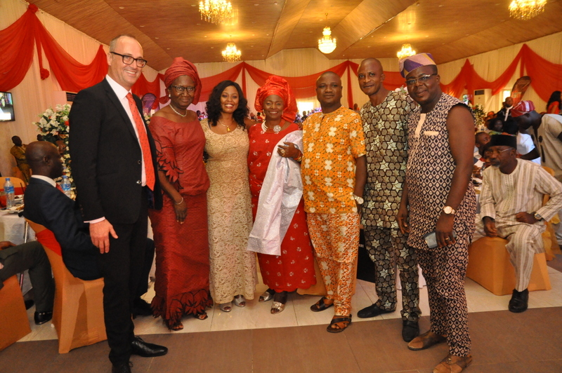 Area Manager, Campari International, Michael Reder, Sales Development Manager, Bola Lofindipe and a host of distributors