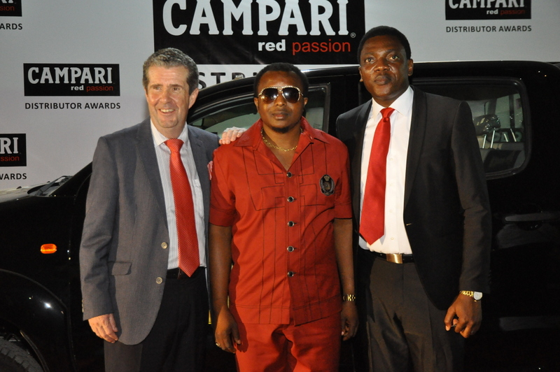Managing Director BML, Paul Wilson, Winner, Ndubuisi Onyenanu and Head of Marketing BML, Abayomi Ajao at the Campari Distributor Awards which held yesterday, Friday, APril 8, 2016 at the Classique Events Centre, Ikeja