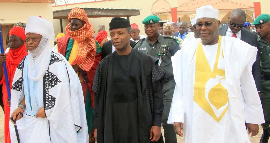 Lamido Adamawa - Muhammadu Barkindo Aliyu Musdafa, VP Yemi Osinbajo & Atiku Abubakar