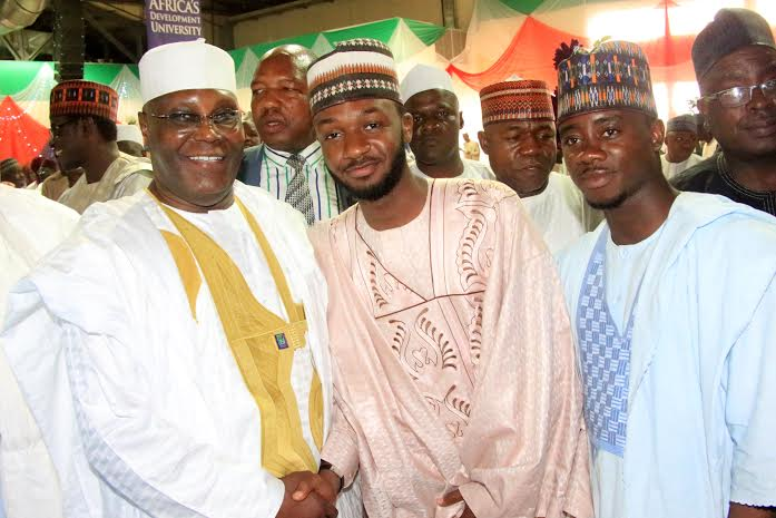 The groom with former VP - Atiku Abubakar who is also from Adamawa State