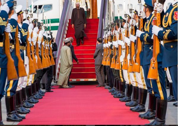 Buhari Arrives China. Photo Credit. instagram.com/bayoomoboriowo