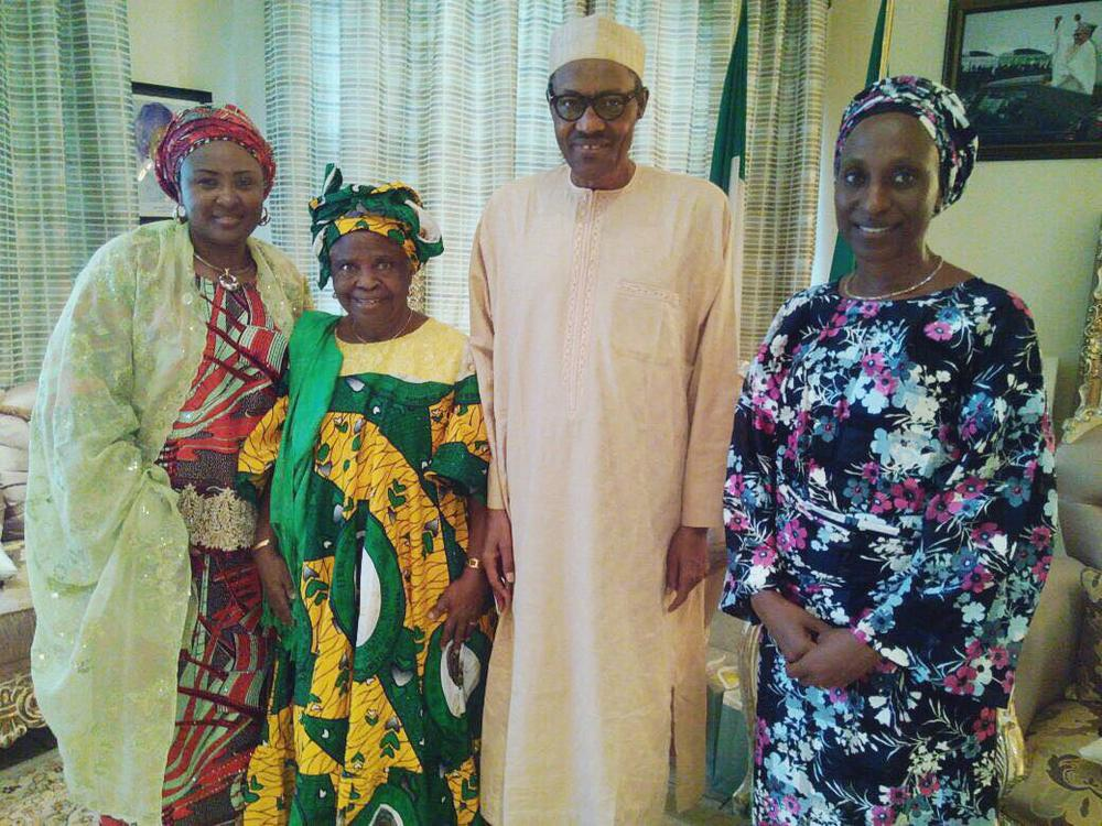 That moment when President Buhari & wife Aisha visited Mother of VP Osinbajo