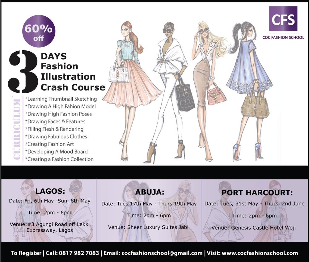 Coc Fashion School Presents 3 Days Fashion Illustration Crash Course Bellanaija