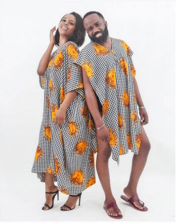 Love birds Noble Igwe and Chioma Otisi Look Cute in Matching Emmanuella King Outfits