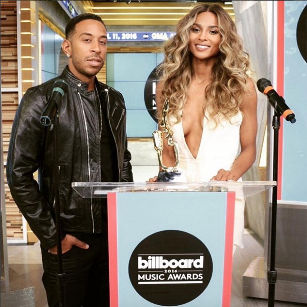Ciara and Ludacris at Billboard Music Awards announcement_April 2016