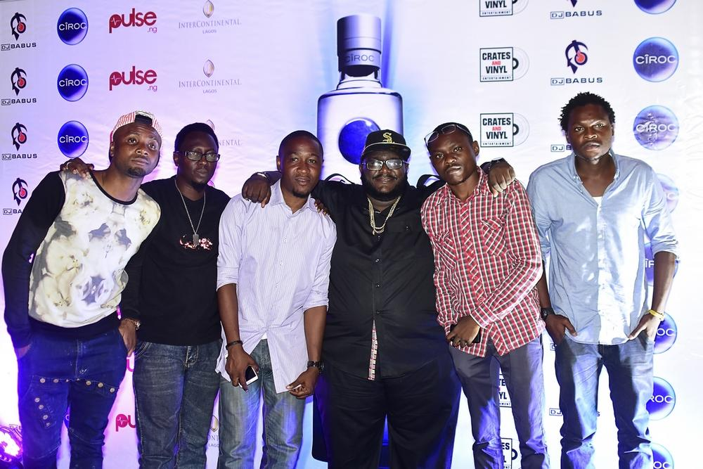 DJ Babus with artist Lamzy, OAP Jiggyman, Knighthouse COO Temi Gomez and others
