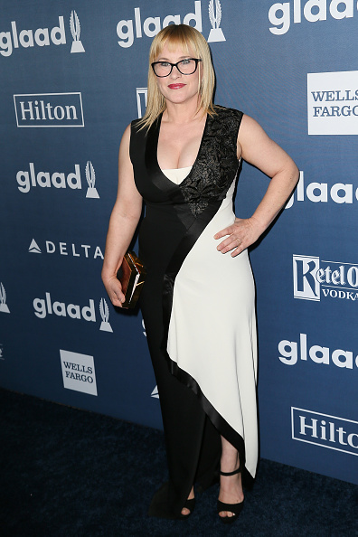 Patricia Arquette arrives at the 27th Annual GLAAD Media Awards at The Beverly Hilton Hotel on April 2, 2016 in Beverly Hills, California.