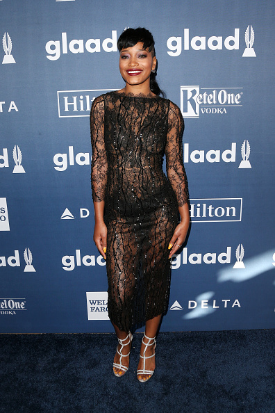 Keke Palmer attends the 27th Annual GLAAD Media Awards at the Beverly Hilton Hotel on April 2, 2016 in Beverly Hills, California.