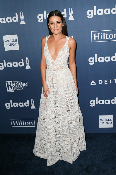 BEVERLY HILLS, CALIFORNIA - APRIL 02:  Actress Lea Michele arrives at the 27th Annual GLAAD Media Awards at The Beverly Hilton Hotel on April 2, 2016 in Beverly Hills, California.  (Photo by David Livingston/Getty Images)