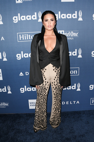 BEVERLY HILLS, CALIFORNIA - APRIL 02:  Singer-Songwriter Demi Lovato attends the 27th Annual GLAAD Media Awards at the Beverly Hilton Hotel on April 2, 2016 in Beverly Hills, California.  (Photo by Frederick M. Brown/Getty Images)
