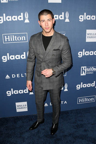 Nick Jonas attends the 27th Annual GLAAD Media Awards at the Beverly Hilton Hotel on April 2, 2016 in Beverly Hills, California.