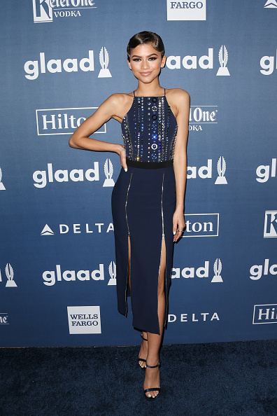 BEVERLY HILLS, CALIFORNIA - APRIL 02:  Actress Zendaya attends the 27th Annual GLAAD Media Awards at the Beverly Hilton Hotel on April 2, 2016 in Beverly Hills, California.  (Photo by Frederick M. Brown/Getty Images)