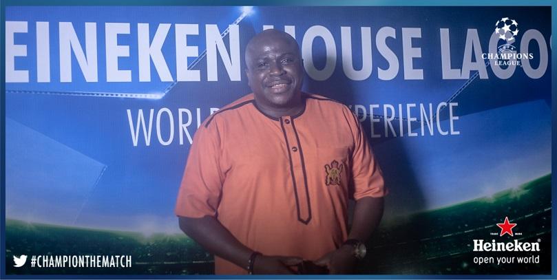Gbenga Adeyinka at #HeinekenHouseLagos
