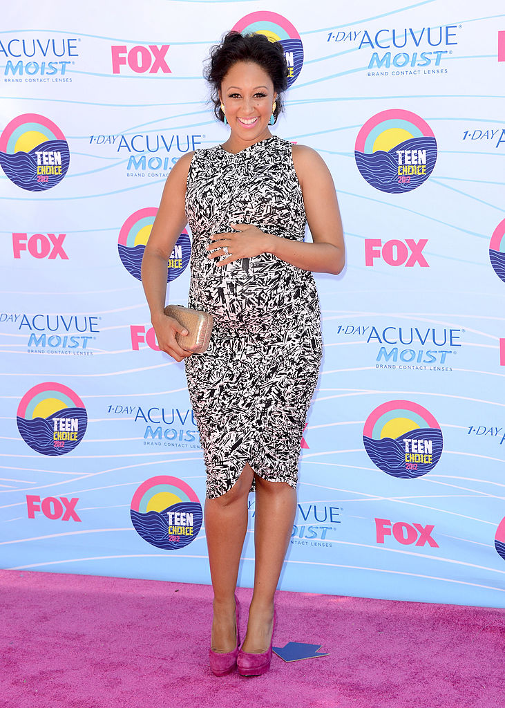 UNIVERSAL CITY, CA - JULY 22: Actress Tamera Mowry arrives at the 2012 Teen Choice Awards at Gibson Amphitheatre on July 22, 2012 in Universal City, California. (Photo by Jason Merritt/Getty Images)