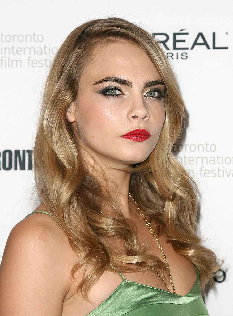 "TORONTO, ON - SEPTEMBER 06: Actress Cara Delevingne attends ""The Face Of An Angel"" premiere during the 2014 Toronto International Film Festival at Winter Garden Theatre on September 6, 2014 in Toronto, Canada. (Photo by Tommaso Boddi/Getty Images)"