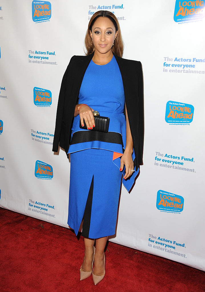 HOLLYWOOD, CA - DECEMBER 04: Actress Tamera Mowry arrives at The Actor's Fund 2014 The Looking Ahead Awards at Taglyan Cultural Complex on December 4, 2014 in Hollywood, California. (Photo by Angela Weiss/Getty Images)