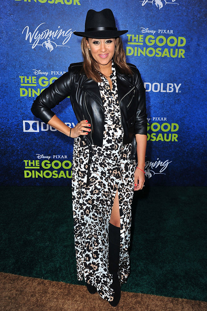 arrives at the Premiere of Disney-Pixar's 'The Good Dinosaur' on November 17, 2015 in Hollywood, California.
