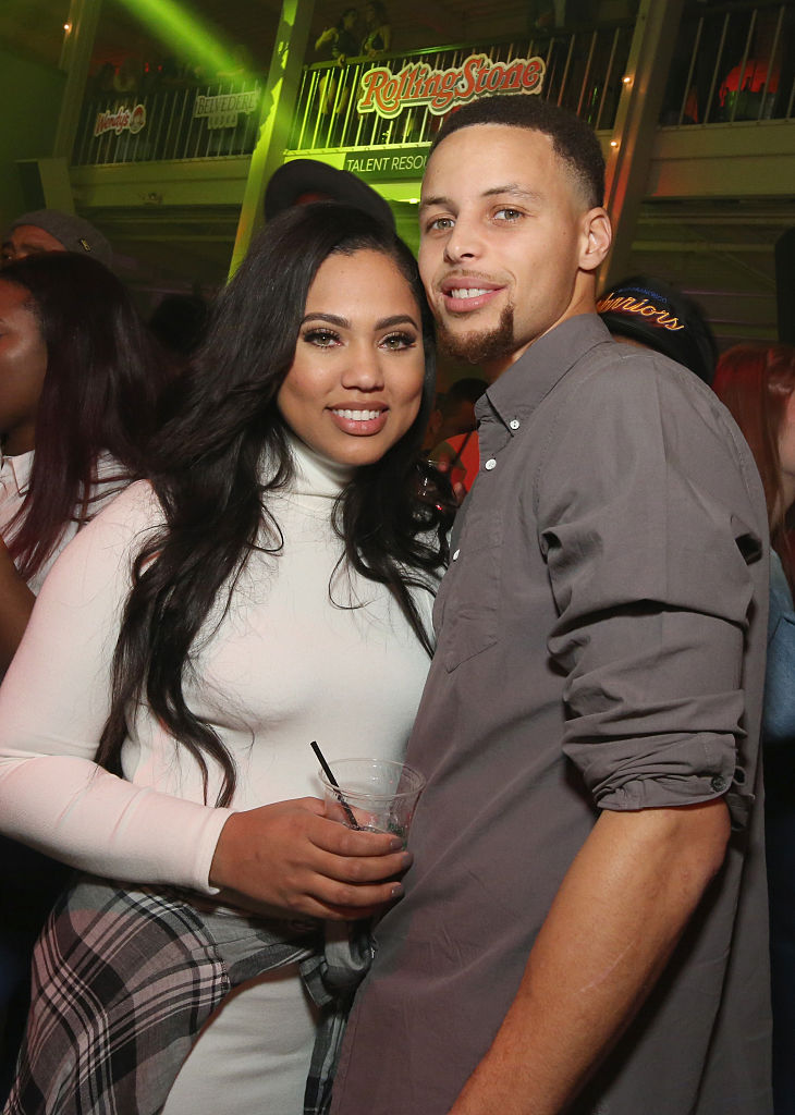 SAN FRANCISCO, CA - FEBRUARY 07: Ayesha Curry (L) and NBA player Stephen Curry attend Rolling Stone Live SF with Talent Resources on February 7, 2016 in San Francisco, California. (Photo by Cindy Ord/Getty Images for Rolling Stone)