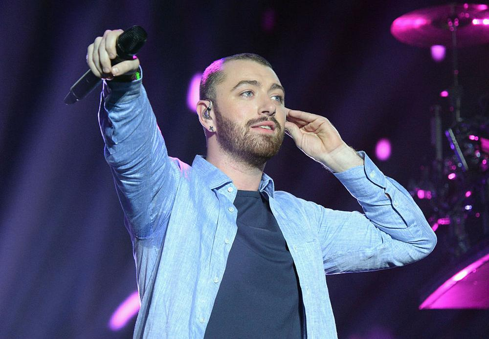INDIO, CA - APRIL 16: Singer Sam Smith performs with Disclosure onstage during day 2 of the 2016 Coachella Valley Music & Arts Festival Weekend 1 at the Empire Polo Club on April 16, 2016 in Indio, California. (Photo by Kevin Mazur/Getty Images for Coachella)