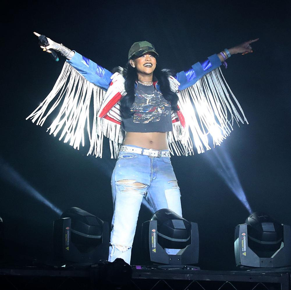 INDIO, CA - APRIL 17: Singer Rihanna performs on day 3 of the 2016 Coachella Valley Music & Arts Festival Weekend 1 at the Empire Polo Club on April 17, 2016 in Indio, California. (Photo by Mark Davis/Getty Images for Coachella)