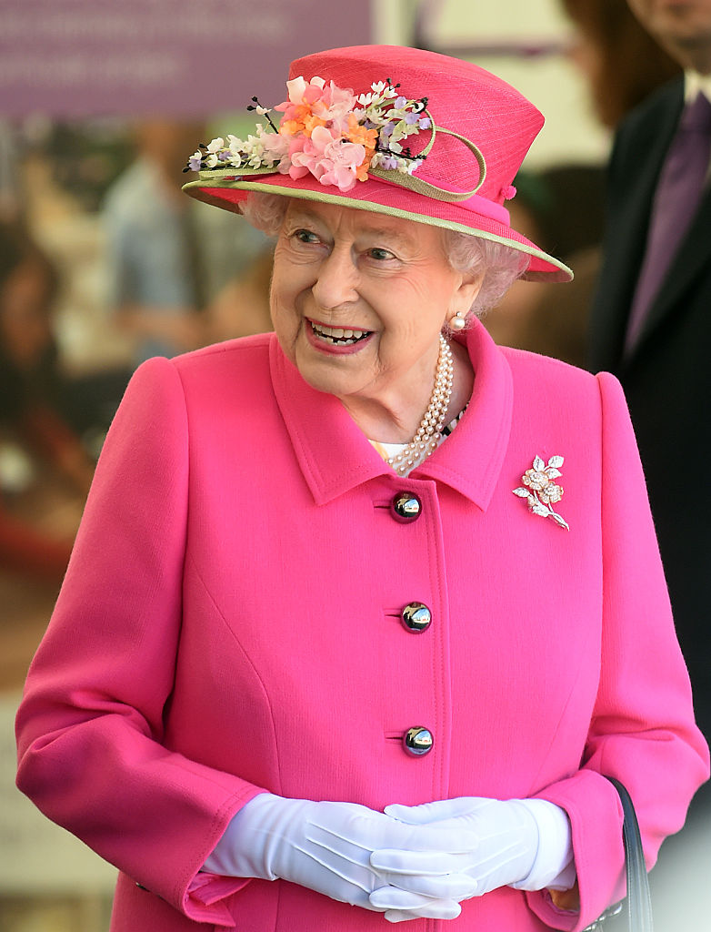 WINDSOR, ENGLAND - APRIL 20: Queen Elizabeth II arrives to open the Alexandra Gardens Bandstand as part of her 90th Birthday celebrations In Windsor on April 20, 2016 in Windsor, England. (Photo by Stuart C. Wilson/Getty Images)