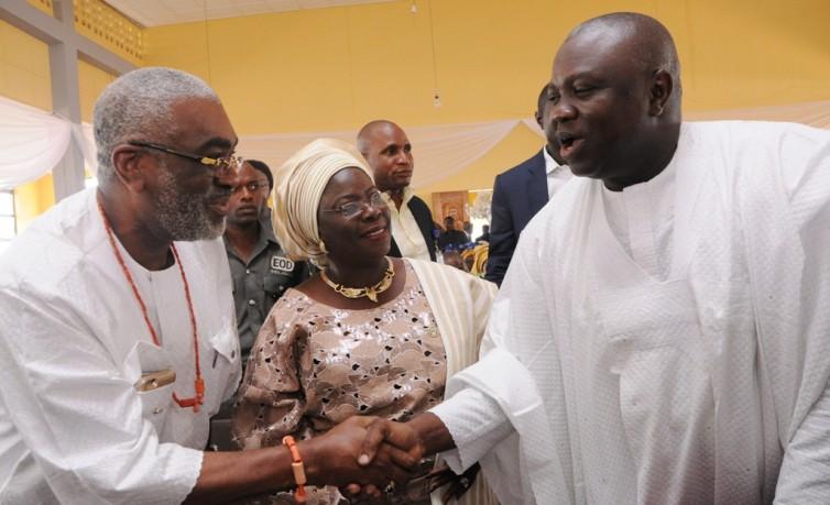 Senator Ben Obi, Deputy Governor Yetunde Onanuga, Governor Akinwunmi Ambode