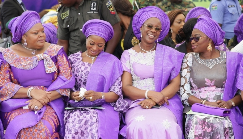 Wife of Lagos State Governor, Bolanle Ambode; Wife of Delta State Governor, Dame Edith Okowa; Wife of Ogun State Governor, Olufunso Amosun; Wife of Imo State Governor, Nkechi Okorocha