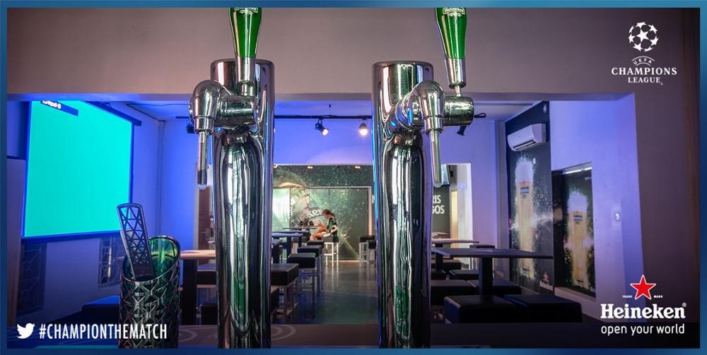 Heineken Draught taps