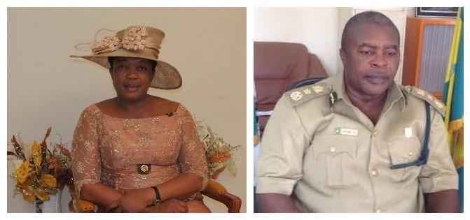 Rep. Joan Mrakpor and Peter Ekpendu, the Controller-General of Nigerian Prisons Service (NPS)