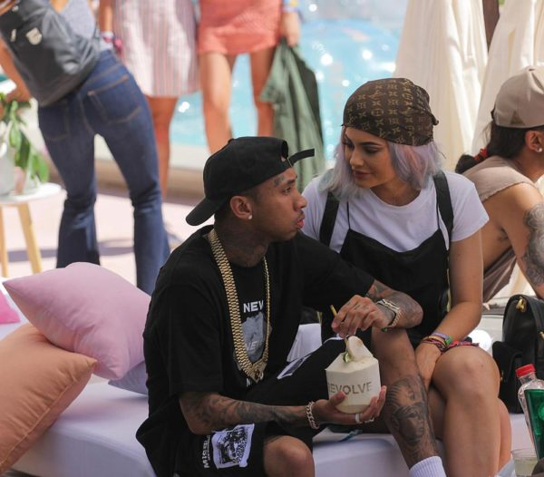 Kylie Jenner and Tyga at The Revolve Festival house during Coachella Photos by Thaddaeus McAdams