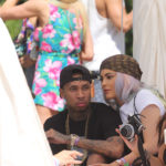 PALM SPRINGS, CA - APRIL 17:  (L-R) Tyga and Kylie Jenner attend REVOLVE Desert House on April 17, 2016  at  on April 17, 2016 in Palm Springs, California.  (Photo by Thaddaeus McAdams/FilmMagic)