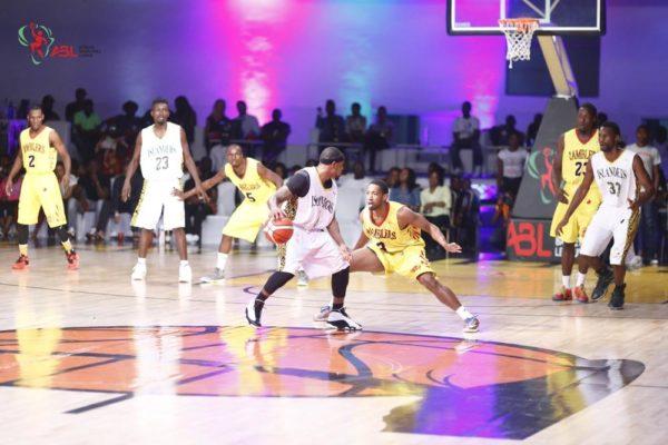 Lagos Islanders VS Abidjan Ramblers in action