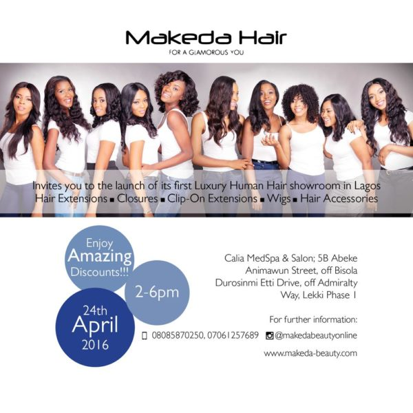 Makeda Hair Launch Invitation