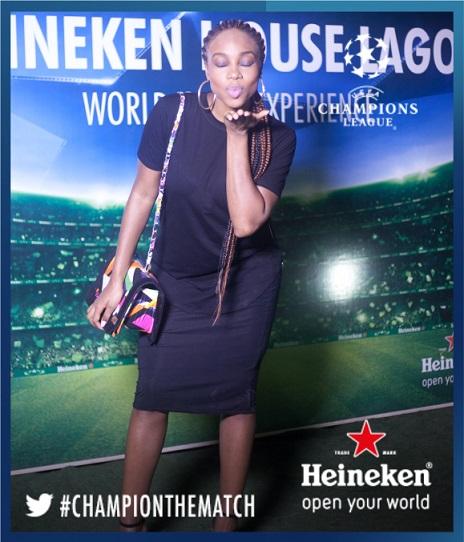 Maria Okanrende at #HeinekenHouseLagos