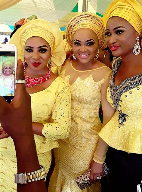 Mercy Aigbe-Gentry, Myde Martins, CEO Luminee Officialat Faithia Williams Balogun's Brother's Wedding in Oyo State.jpg