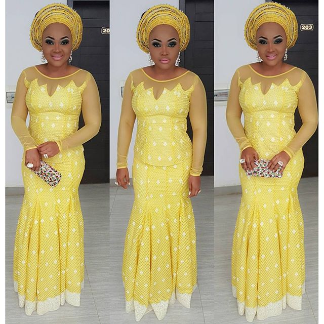 Mercy Aigbe-Gentry at Faithia Williams Balogun's Brother's Wedding in Oyo State