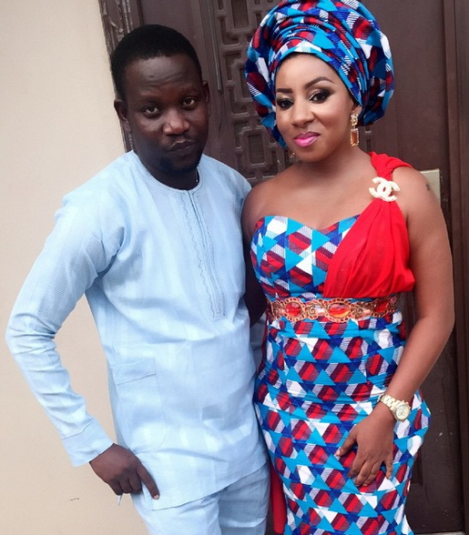 Mide Martins and hubby Afeez