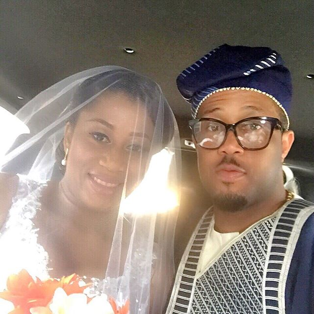 handsome Nigeria actor Mike Ezuruonye attend his Pretty Sister Chika's Marriage ceremony