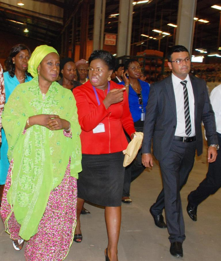 Minister of state for trade, industry and investment visit to Nobel carpets-BELLANAIJA0005