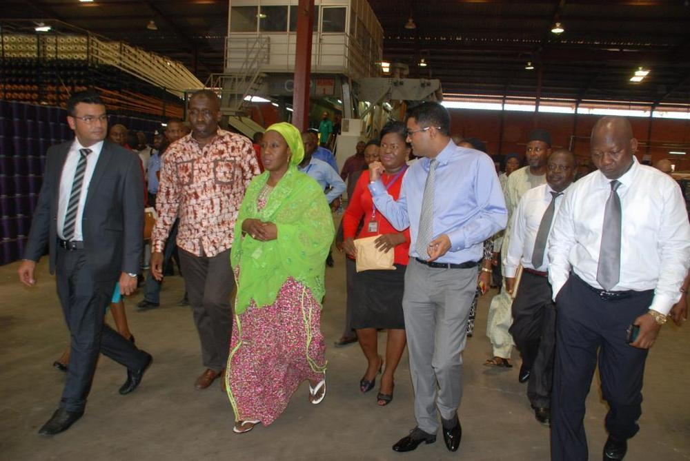 Minister of state for trade, industry and investment visit to Nobel carpets-BELLANAIJA0009