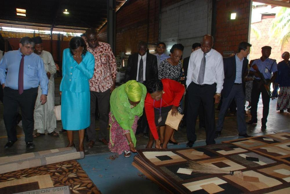 Minister of state for trade, industry and investment visit to Nobel carpets-BELLANAIJA0011