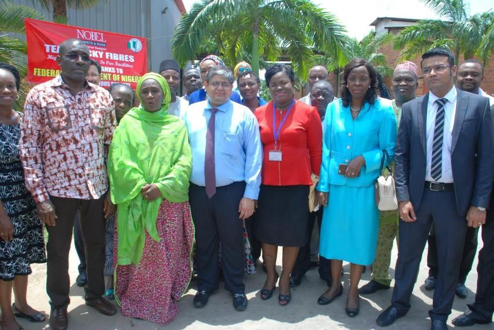 Minister of state for trade, industry and investment visit to Nobel carpets-BELLANAIJA0037