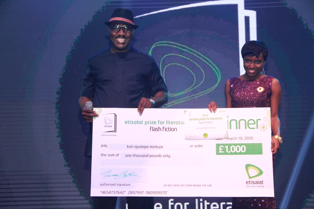Modupe Kuti Winner of the 2015 Etisalat Prize for Literature Flash Fiction Category IMG_3673