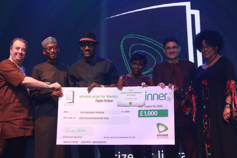 Modupe Kuti Winner of the 2015 Etisalat Prize for Literature Flash Fiction Category IMG_3683