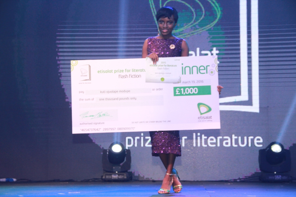 Modupe Kuti Winner of the 2015 Etisalat Prize for Literature Flash Fiction Category IMG_3690