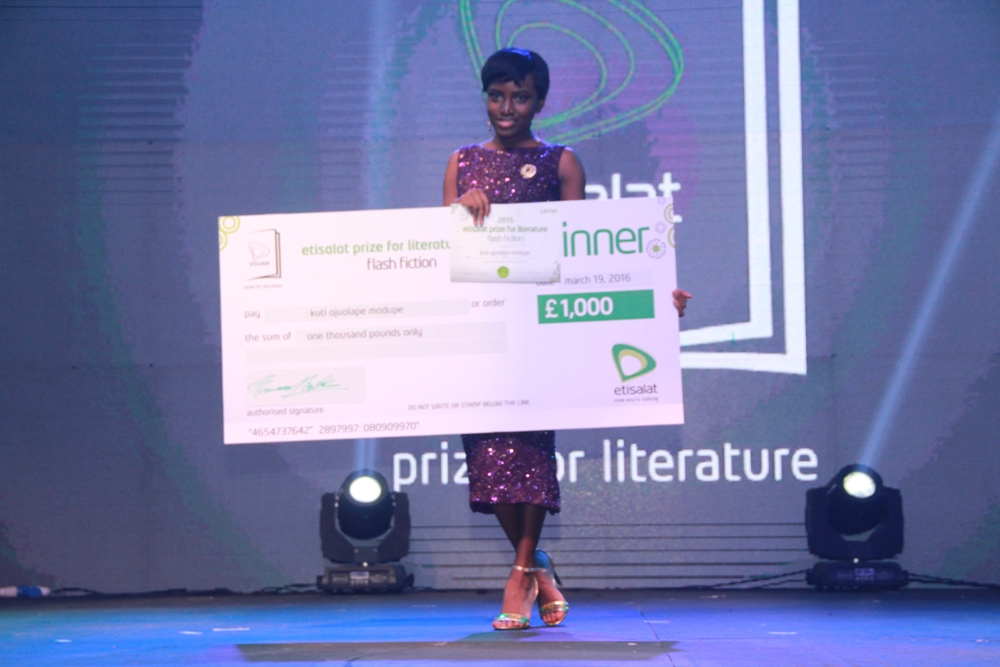 Modupe Kuti Winner of the 2015 Etisalat Prize for Literature Flash Fiction Category IMG_3691
