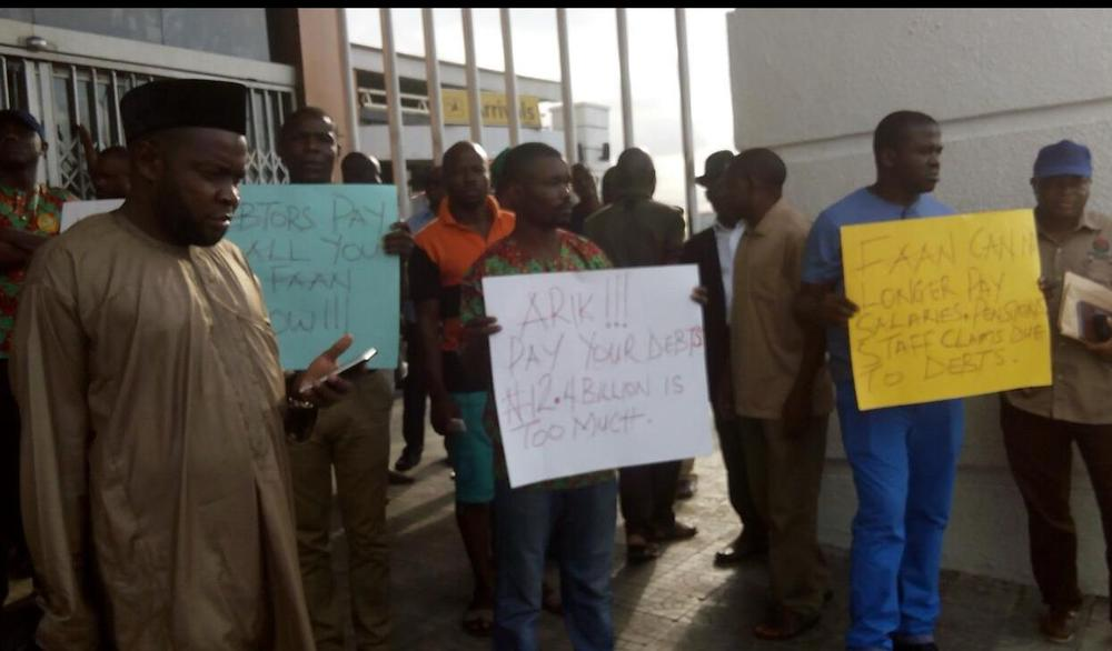 Protesting Union Workers. Photo Credit: Daily Trust