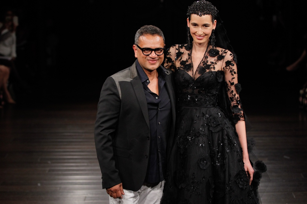 NEW YORK, NY - APRIL 16: Designer Naeem Khan walks the runway at the Naeem Khan Spring/Summer 2017 Bridal Collection on April 16, 2016 in New York City. (Photo by JP Yim/Getty Images)