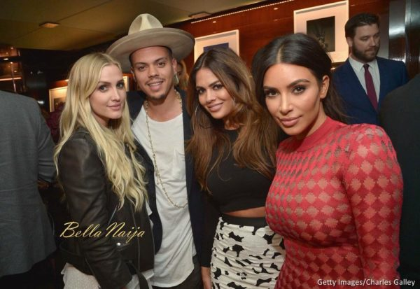 Ashlee Simpson, Evan Ross, Carla DiBello and Kim Kardashian