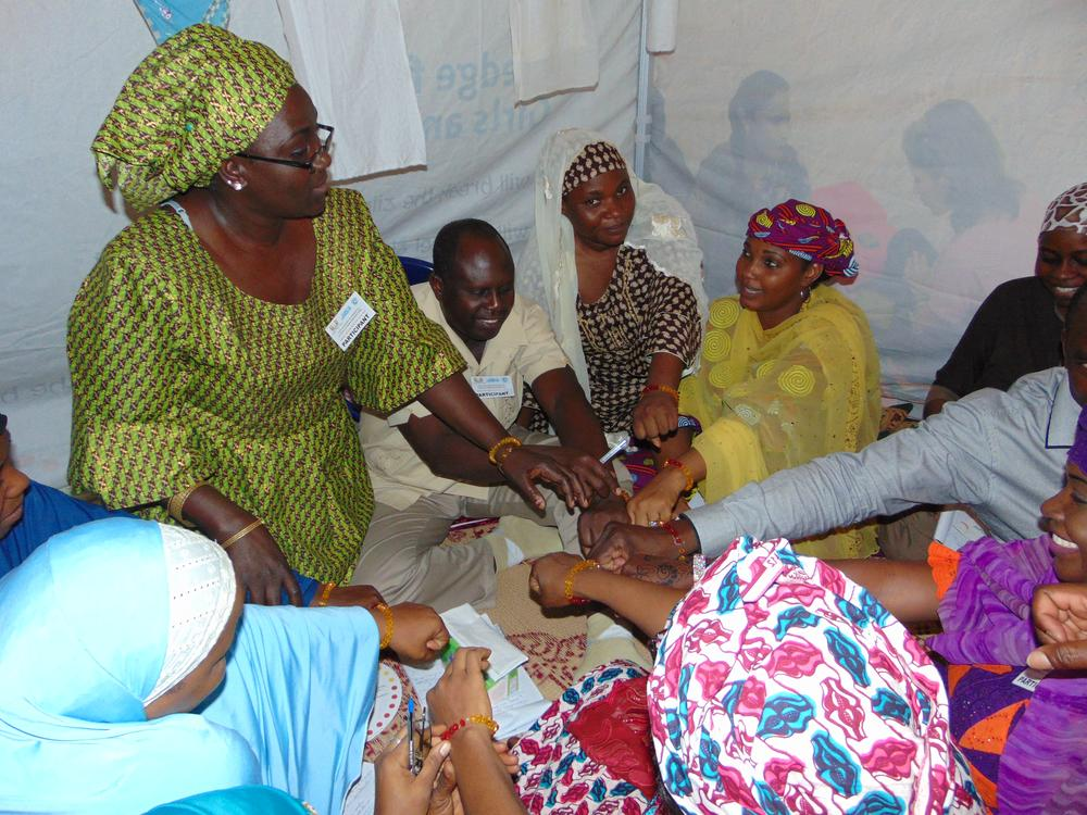 Participants during Nneoma's MHM Research in Nigeria. Credit: Virginia Tech News